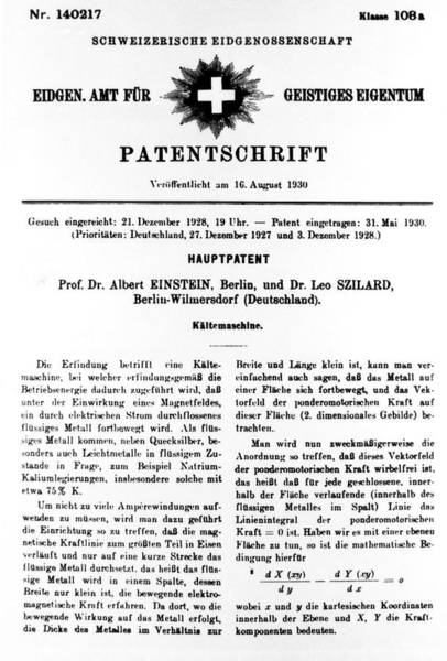 1921 Photograph - Albert Einstein Patent by Science Photo Library