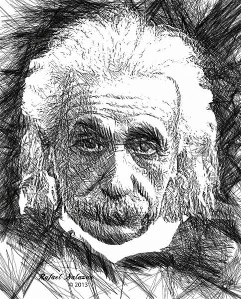 Digital Art - Albert Einstein by Rafael Salazar