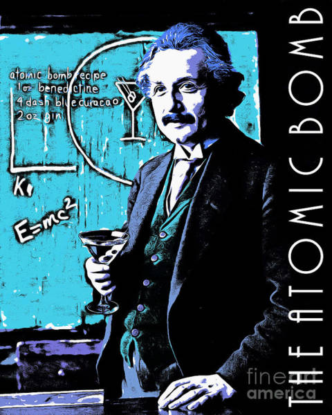 Wall Art - Photograph - Albert Einstein The Atomic Bomb 20140910poster by Wingsdomain Art and Photography