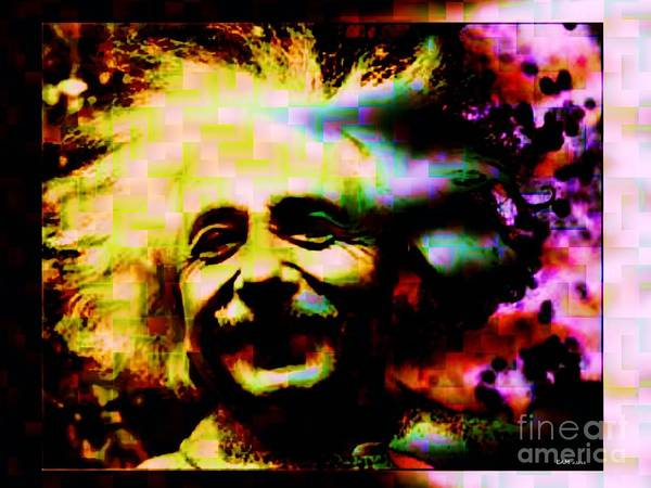 Liz Digital Art - Albert Einstein - Why Is It That Nobody Understands Me - Yet Everybody Likes Me by Elizabeth McTaggart