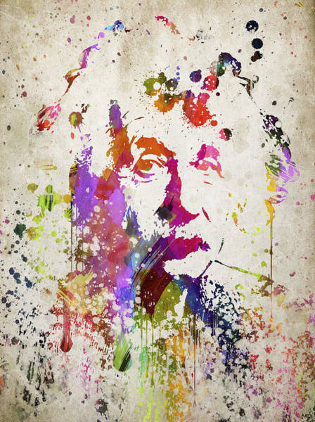 Einstein Wall Art - Digital Art - Albert In Color by Aged Pixel