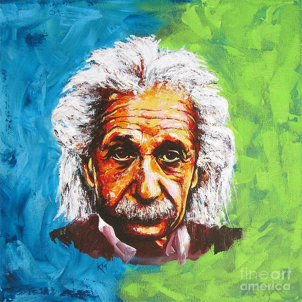 Painting - Albert Tribute by Konni Jensen