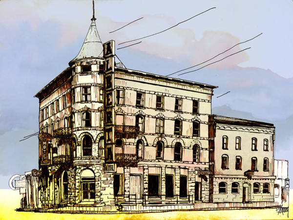 Drawing - Alberta Hotel by Stan Kwong