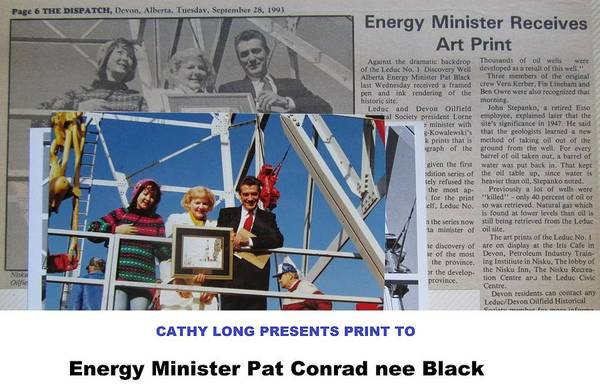 Oil Derrick Drawing - Energy Minister by Cathy Long