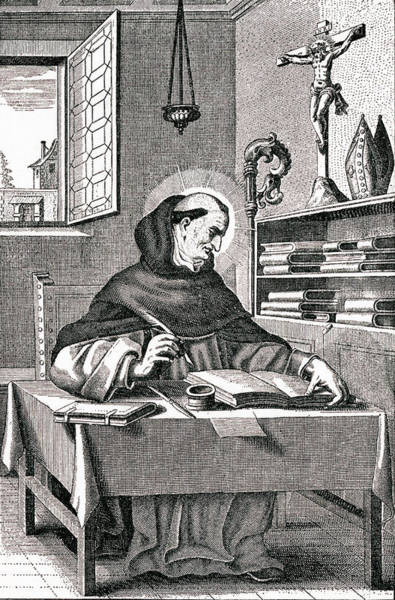 Wall Art - Drawing - Albertus Magnus (albrecht, Graf Von by Mary Evans Picture Library