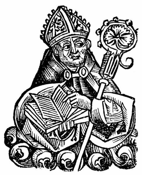 Woodcut Photograph - Albertus Magnus by Universal History Archive/uig