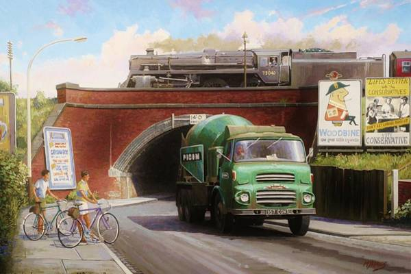 Railway Painting - Albion Mixer. by Mike Jeffries