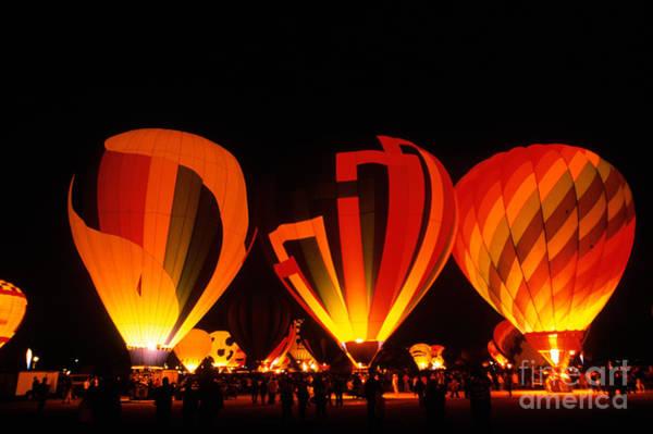 Fiesta Photograph - Albuquerque Balloon Festival by Mark Newman