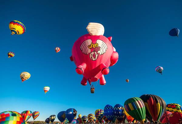 Photograph - Albuquerque Balloon Fiesta 13 by Lou  Novick