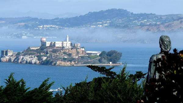 Photograph - Alcatraz Island From Coit Tower by Jeff Lowe