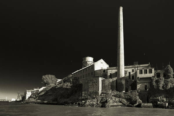 Photograph - Alcatraz Stack Sepia by Scott Campbell