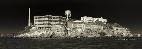 Photograph - Alcatraz The Rock Sepia 1 by Scott Campbell