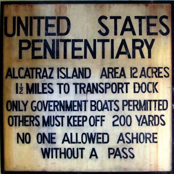 Alcatraz Warning Art Print