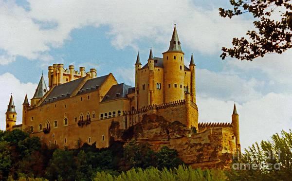 Alcazar Castle In Segovia Spain Art Print