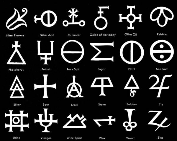 Photograph - Alchemic Symbols by Granger