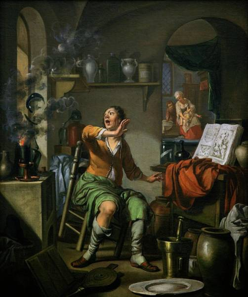 1600s Wall Art - Photograph - Alchemist Working by Gregory Tobias/chemical Heritage Foundation/science Photo Library