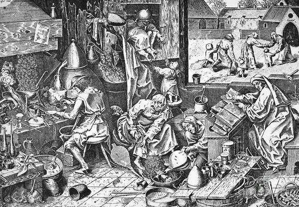 Photograph - Alchemists, 1558 by Granger