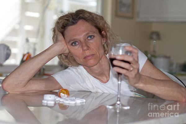 Photograph - Alcohol And Drug Abuse by Gunter Nezhoda