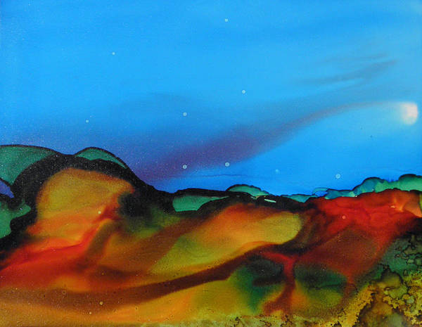 Painting - Alcohol Ink Landscape # 134 by Sandra Fox