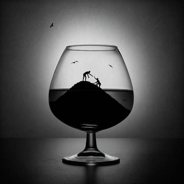 Wall Art - Photograph - Alcoholism. The Hand Of Help by Victoria Ivanova