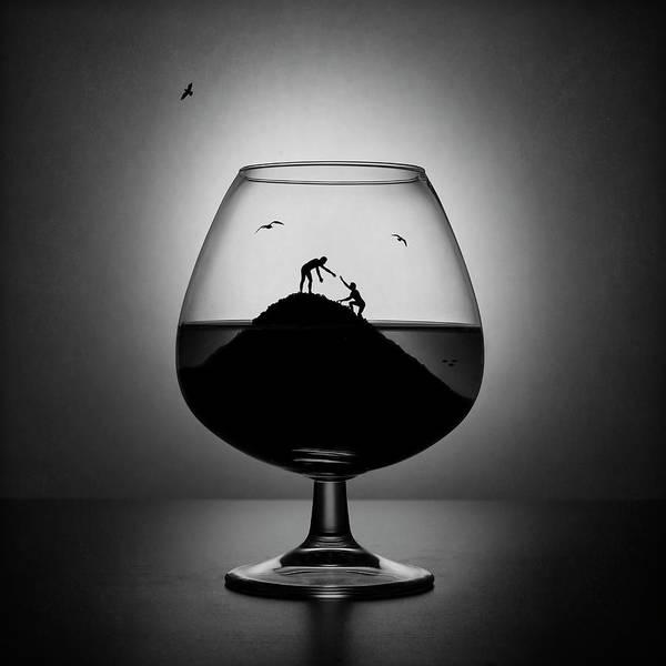 Addiction Wall Art - Photograph - Alcoholism. The Hand Of Help by Victoria Ivanova