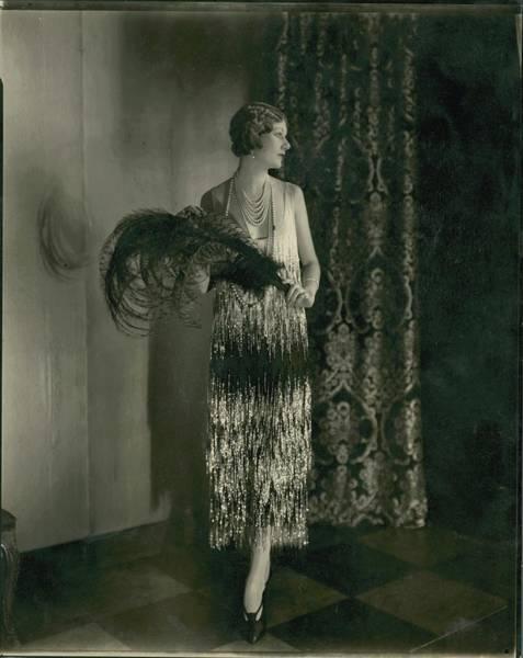 Gay Photograph - Alden Gay Wearing A Chanel Dress by Edward Steichen