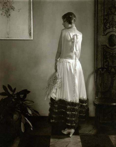 Gay Photograph - Alden Gay Wearing A Lanvin Dress by Edward Steichen