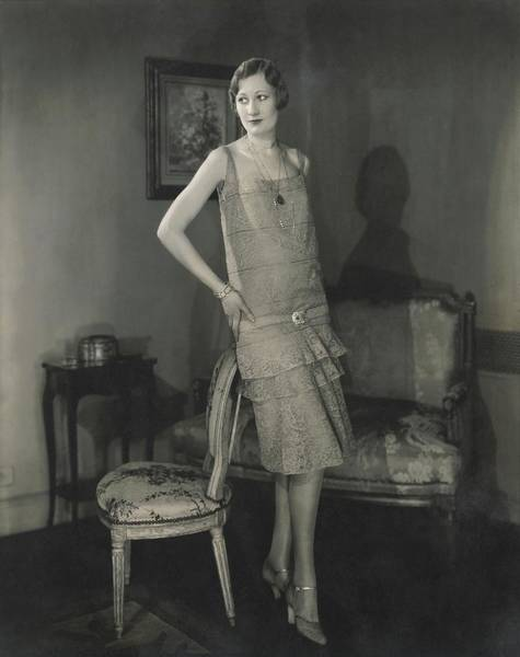 Gay Photograph - Alden Gay Wearing Lace Dress By Chanel by Edward Steichen