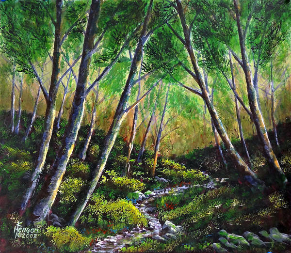 Brook Mixed Media - Alder Creek by Kenny Henson