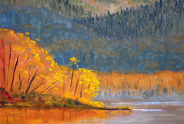 Mountain Lake Painting - Alder Lake by Nancy Merkle