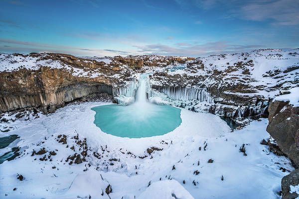Wall Art - Photograph - Aldeyjarfoss - The Wide View by Jeffrey C. Sink