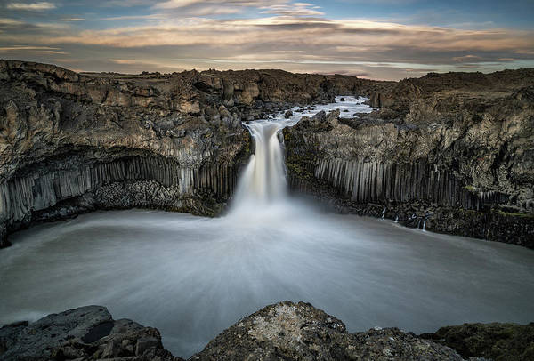 Cliffs Wall Art - Photograph - Aldeyjarfoss Waterfall North Iceland by Ronny Olsson