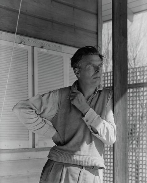 Poet Photograph - Aldous Huxley On A Porch by George Platt Lynes