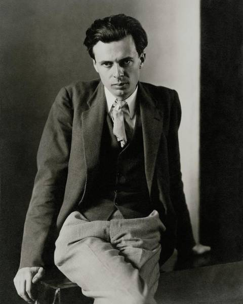 Poet Photograph - Aldous Huxley Wearing A Three-piece Suit by Charles Sheeler