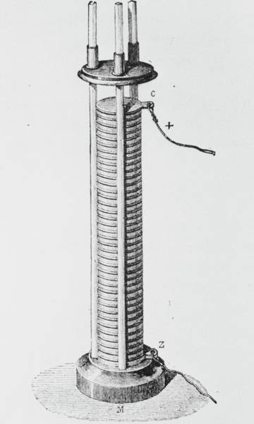 Voltaic Pile Photograph - Alessandro Volta's Pile Or Battery by Science Photo Library