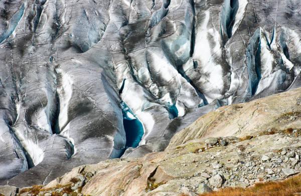 Photograph - Aletsch Glacier Ice Crevice Switzerland by Matthias Hauser