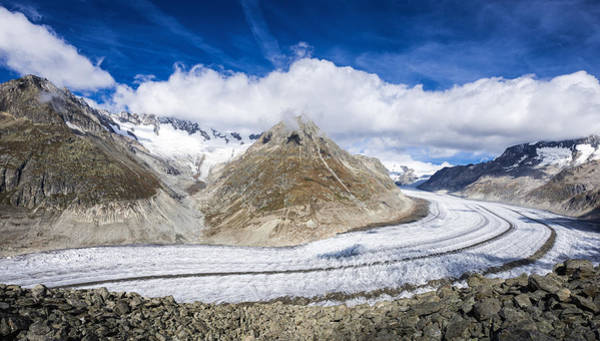 Photograph - Aletsch Glacier On A Beautiful Sunny Day by Matthias Hauser