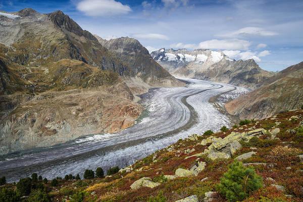 Photograph - Aletsch Glacier The Largest Glacier In Switzerland by Matthias Hauser