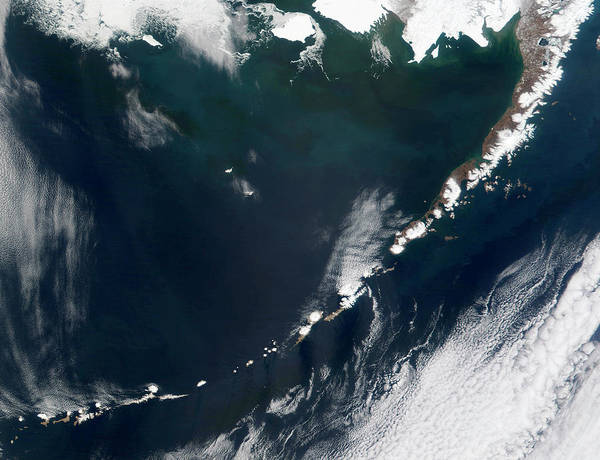 Fire Ring Photograph - Aleutian Islands by Nasa/science Photo Library