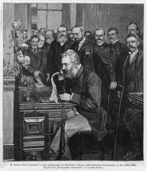 Illinois Drawing - Alexander Graham Bell  American by Mary Evans Picture Library