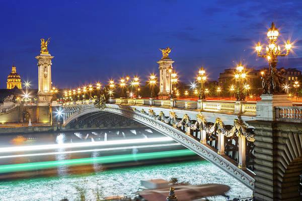 Alexandre Photograph - Alexander IIi Bridge By Night by Loic Lagarde