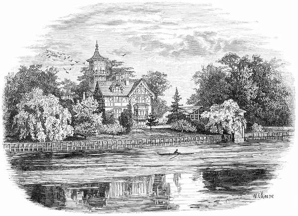 Villa Drawing - Alexander Pope  English Poet's Villa by Mary Evans Picture Library
