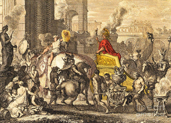 Photograph - Alexander The Great Entering Babylon by Getty Research Institute