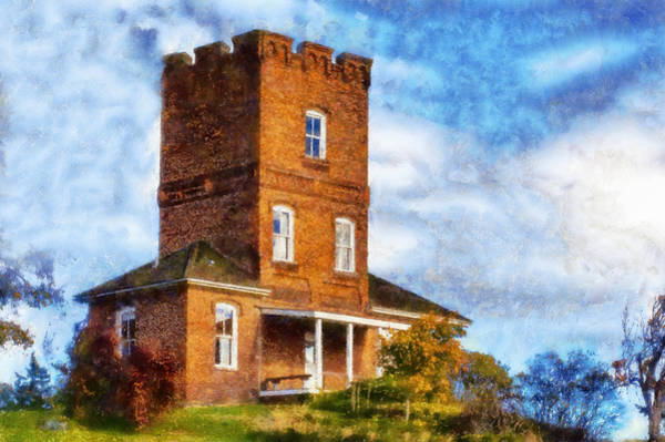 Port Townsend Digital Art - Alexanders Castle Fort Worden by Kaylee Mason