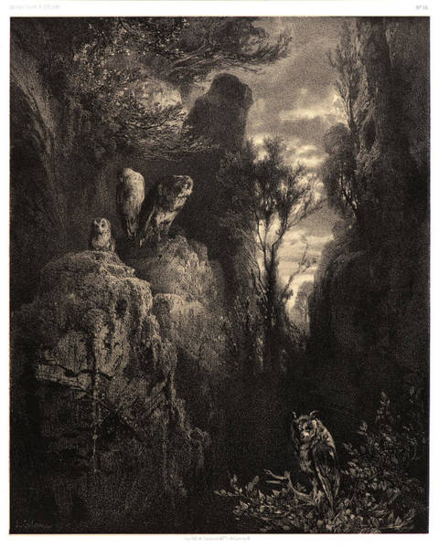 Twilight Drawing - Alexandre Calame Swiss, 1810 - 1864. Twilight Le Crepuscule by Litz Collection