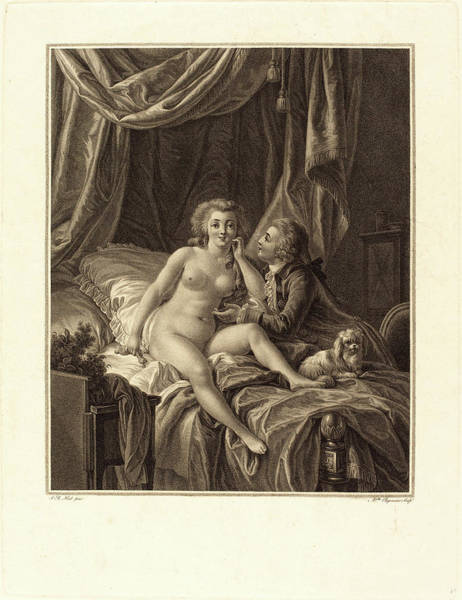 Stipple Drawing - Alexandre Chaponniere After Jean-baptiste Hüet by Litz Collection