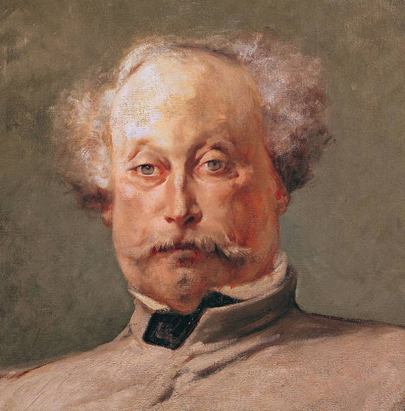 Mustache Painting - Alexandre Dumas by Georges Clairin