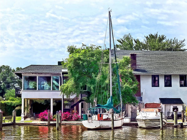 Photograph - Alexandria Va - Docked Boats by Susan Savad