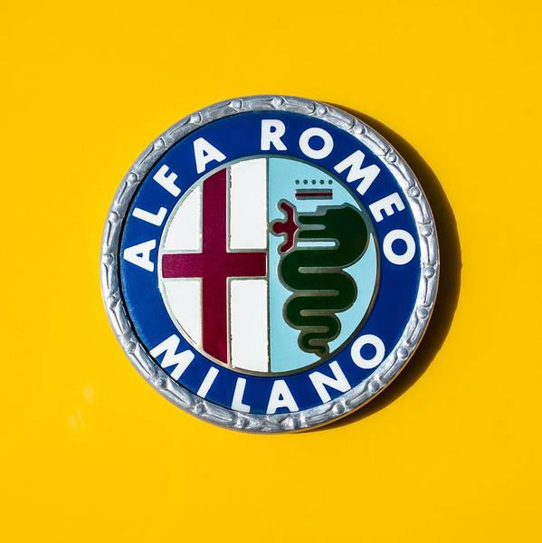 Wall Art - Photograph - Alfa Romeo Emblem by Jill Reger