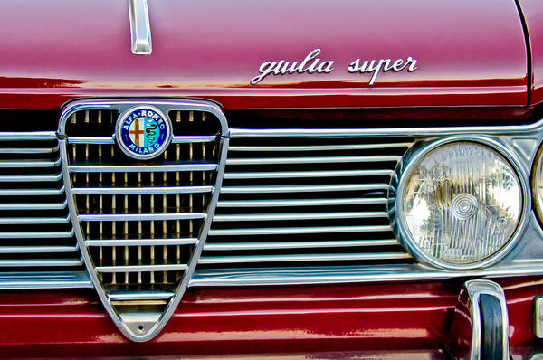 Photograph - Alfa-romeo Guilia Super Grille by Jill Reger